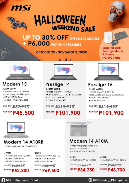 MSI laptops sale