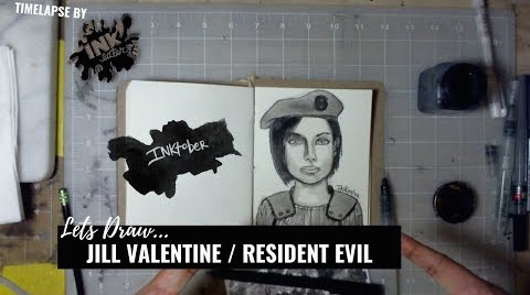 We Drew Jill Valentine From Resident Evil Series! - Inktober 2018