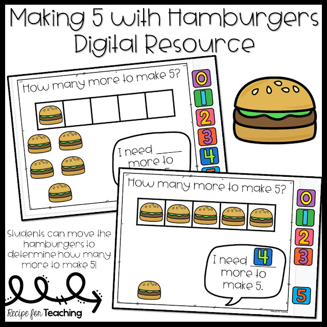 https://www.teacherspayteachers.com/Product/Making-5-with-Hamburgers-Digital-Resource-5427956