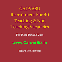GADVASU Recruitment For 40 Teaching & Non Teaching Vacancies