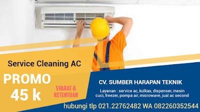 Service AC Jakarta Timur Promo Cuci AC Rp 45.000