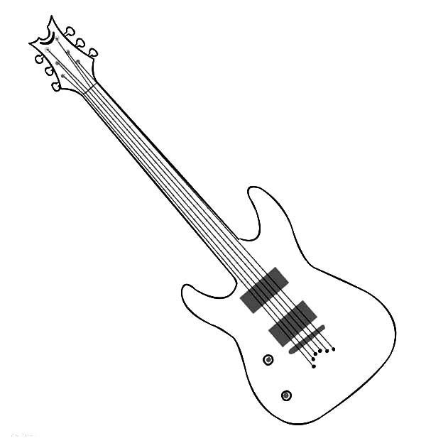 Gambar Mewarnai Gitar - 2