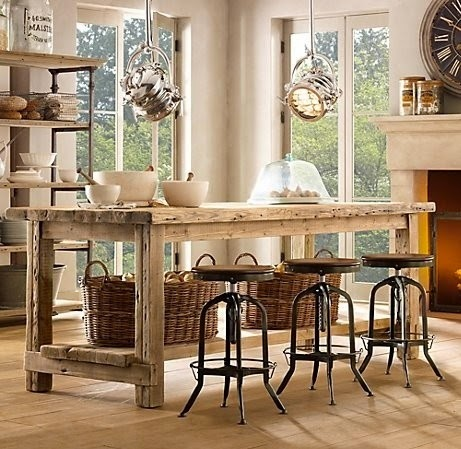 Hogares frescos 30 fabulosas ideas para islas de cocinas for Muebles rusticos toledo