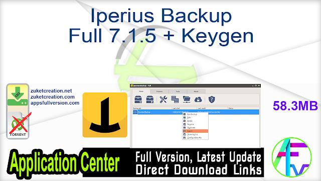 Iperius Backup Full 7.1.5 + Keygen