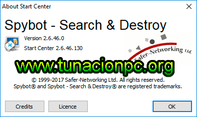 Spybot Search & Destroy elimina spyware del navegador