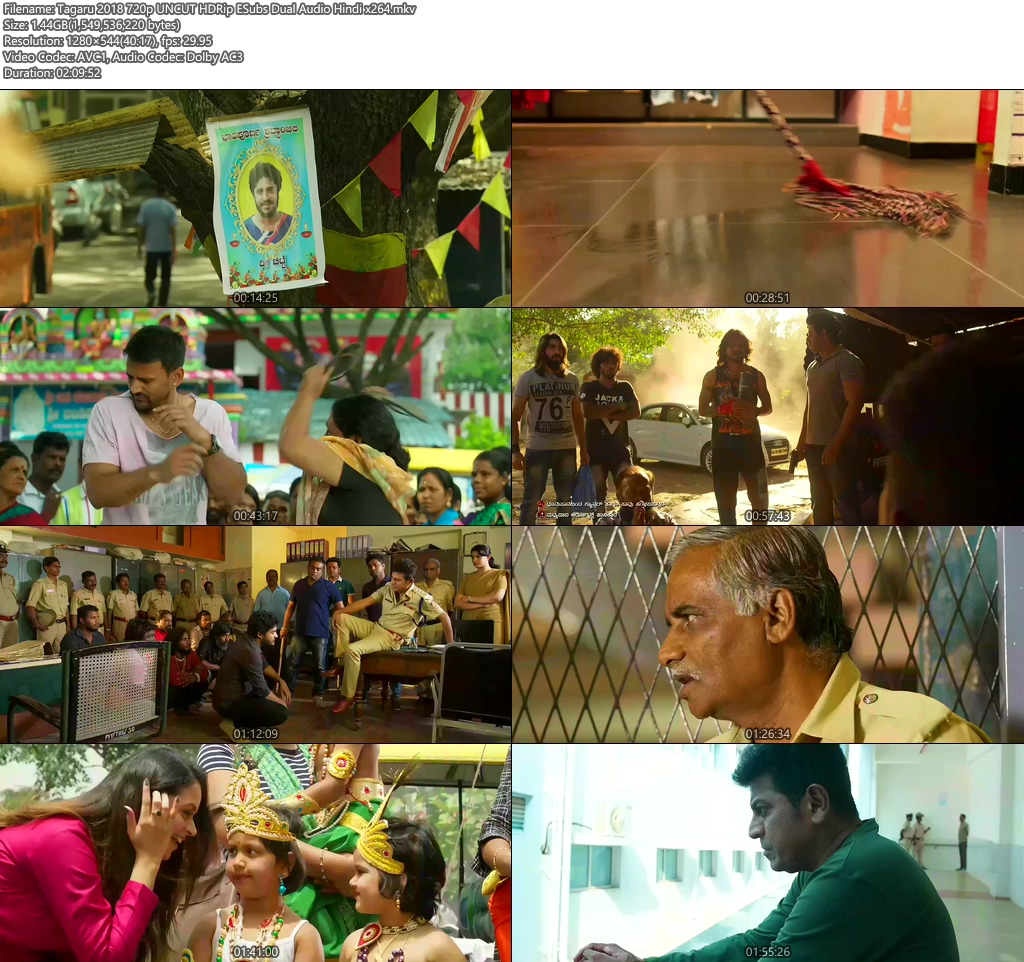 Tagaru 2018 720p UNCUT HDRip ESubs Dual Audio Hindi x264 | 480p 300MB | 100MB HEVC Screenshot