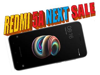 get full details about redmi 5 a sale next mi sale