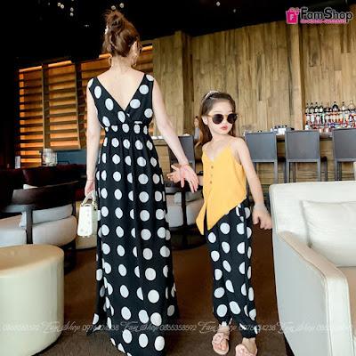 Váy maxi mẹ và bé gái M510