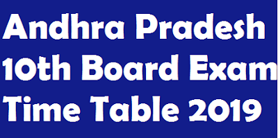 AP SSC Exam Time Table 2019