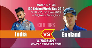 Who will win ICC CWC 2019 38th Match India vs England