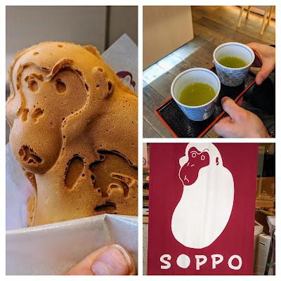 Tokyo to Nikko day trip: Soppo cake and green tea