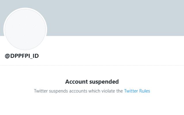 Akun Twitter Ormas Islam Ini Kena Suspend