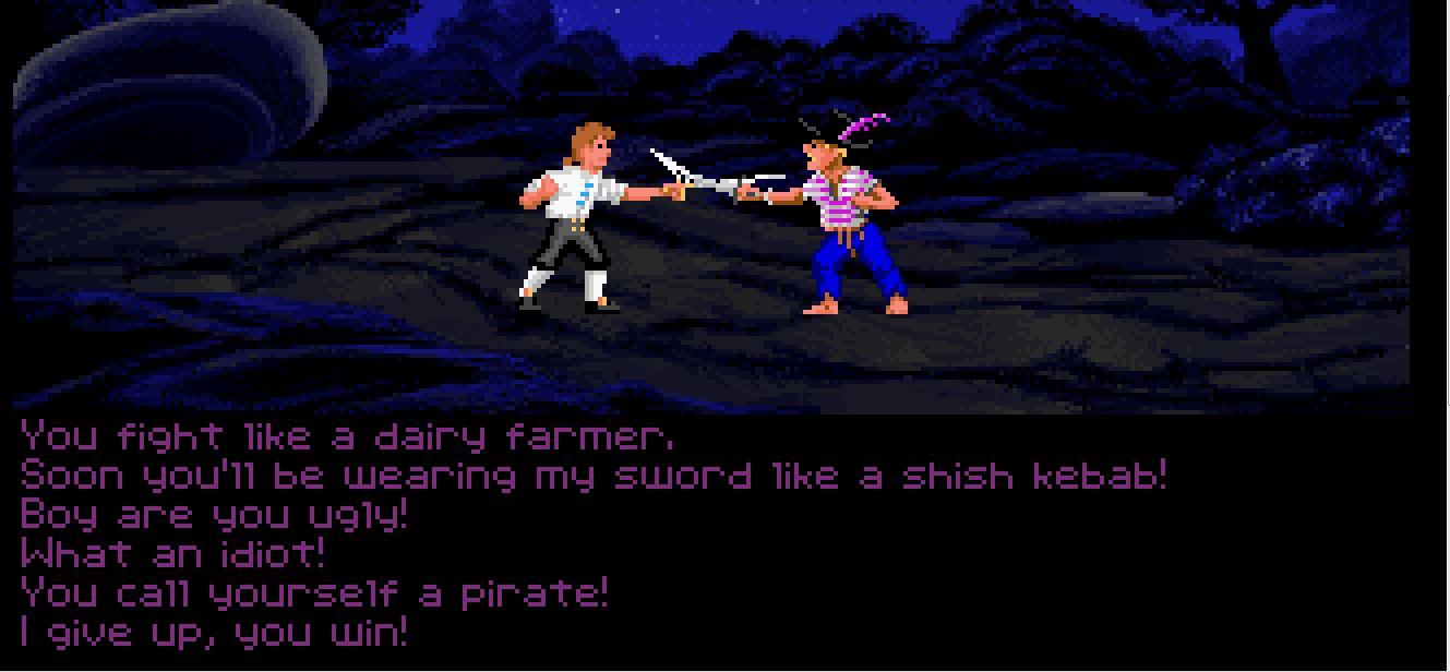 Monkey Island Insult Sword Fighting
