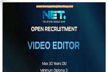 Lowongan Kerja Bandung Video Editor Net. TV