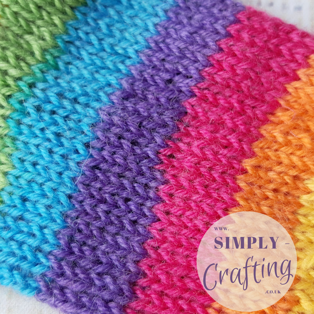 Simply-Crafting: Children's Rainbow Socks - Free Sock ...