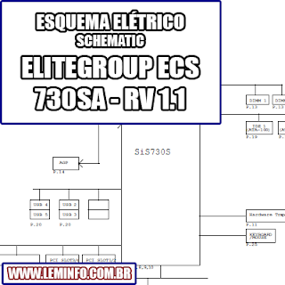 Esquema Elétrico Placa Mãe EliteGroup ECS 730SA - RV 1.1 Motherboard Manual de Serviço  Service Manual schematic Diagram Placa Mãe EliteGroup ECS 730SA - RV 1.1 Motherboard    Esquematico Placa Mãe EliteGroup ECS 730SA - RV 1.1 Motherboard