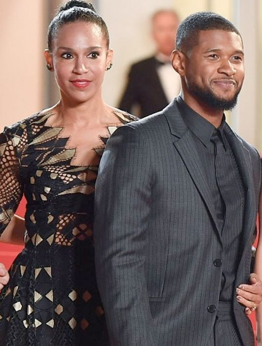 Usher brings his wife to the red carpet for the first time (photos)