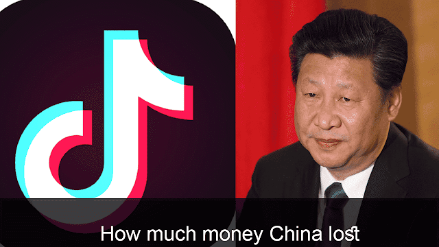 How much money China lost due to banding of China app in India