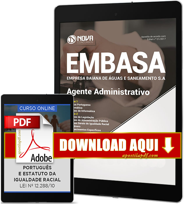 Apostila EMBASA 2017 Agente Administrativo PDF Download