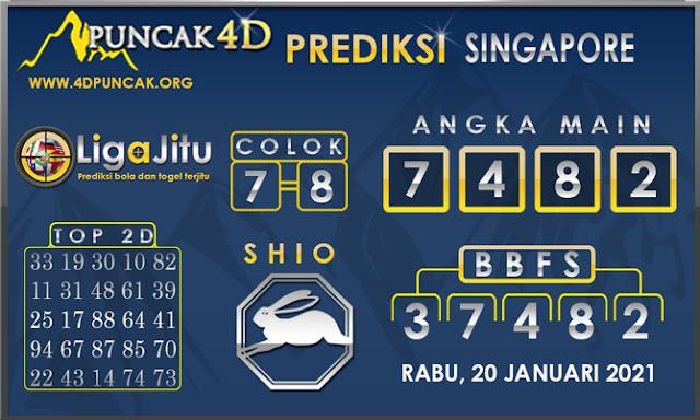 PREDIKSI TOGEL SINGAPORE PUNCAK4D 20 JANUARI 2021