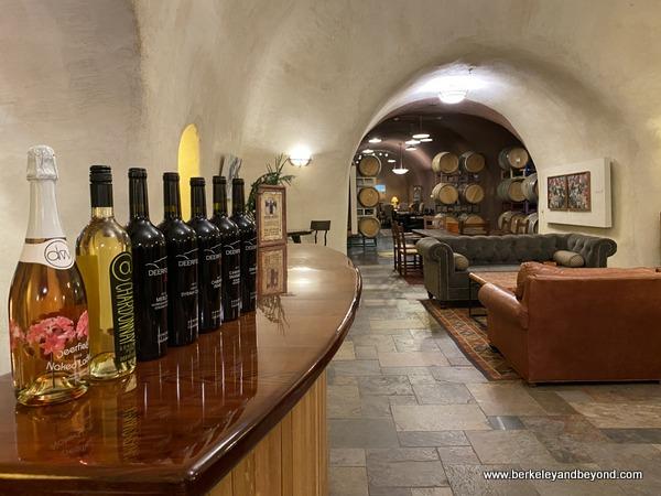 cave tasting room at Deerfield Ranch Winery in Kenwood, California