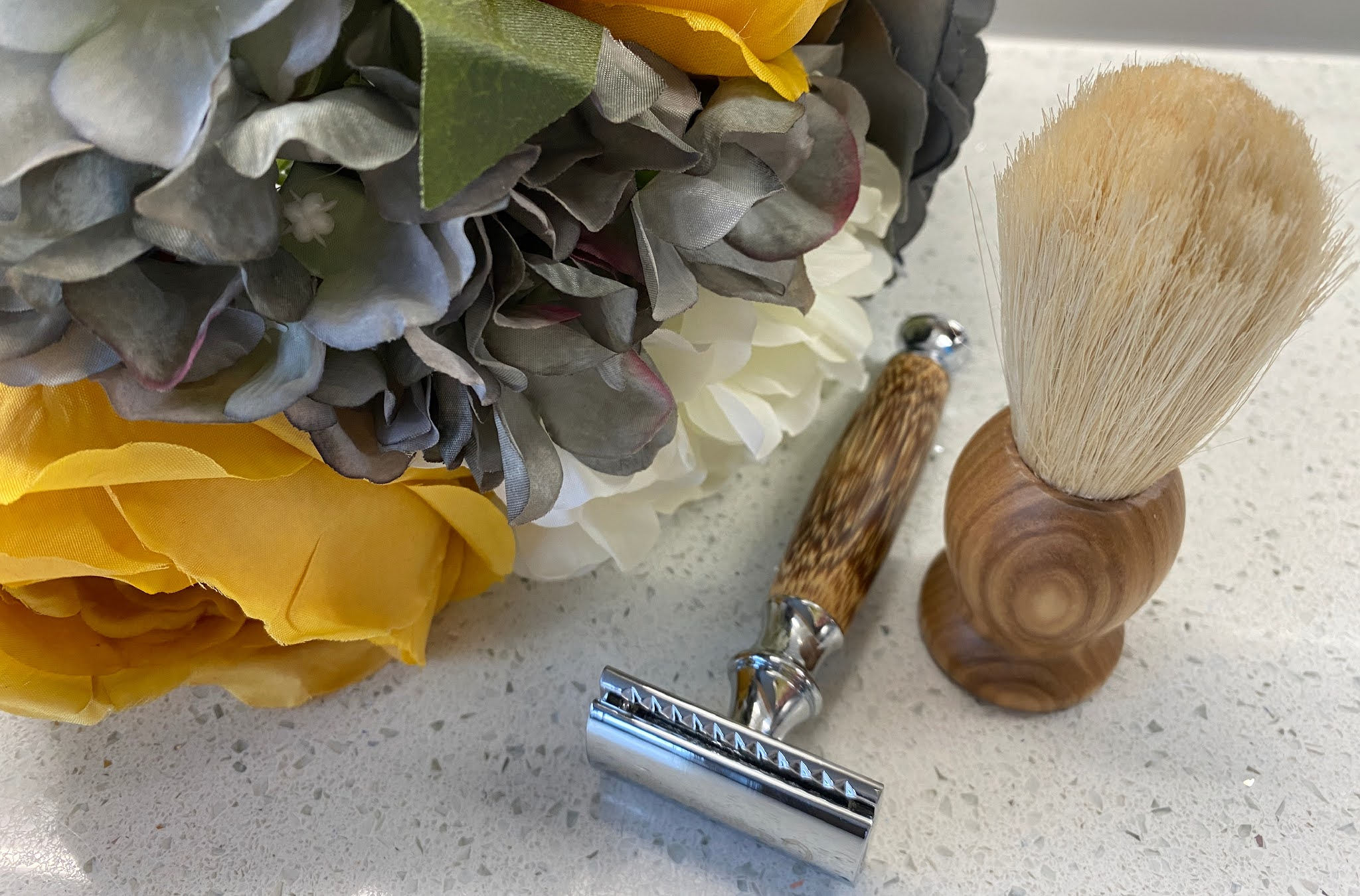 plastic free razor and shaving brush