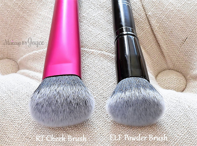 Real Techniques Cheek Brush vs ELF Selfie Ready Powder Comparison Review