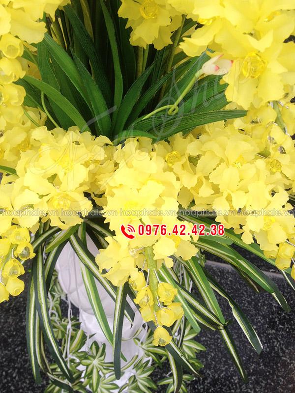 Mẫu hoa lan 3 tầng - hoa pha lê