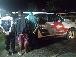 Polícia Militar prende três homens que participaram ao roubo na Padaria em Registro-SP