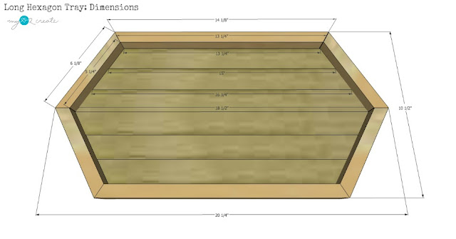 Free Long Hexagon Tray Plans, MyLove2Create