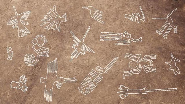 A series of ancient brushstrokes millennium unfaded in Peru