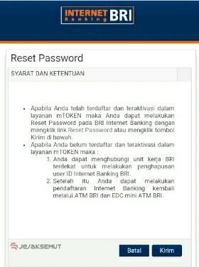 bbr00q2 User id internet banking bri terblokir