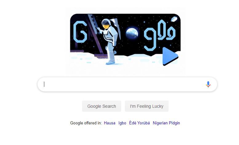Google Doodle Apollo 50th anniversary
