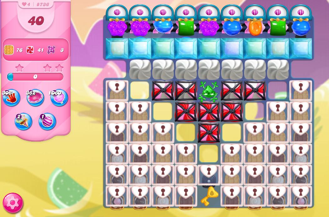 Candy Crush Saga level 8736