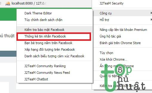 Thống kê tin nhắn trên Facebook