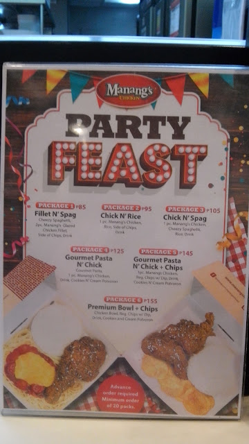 Manang's Party Feast Packages. With Christmas parties here, there and everywhere, this is perfect! Choose from among their fantastic combos.