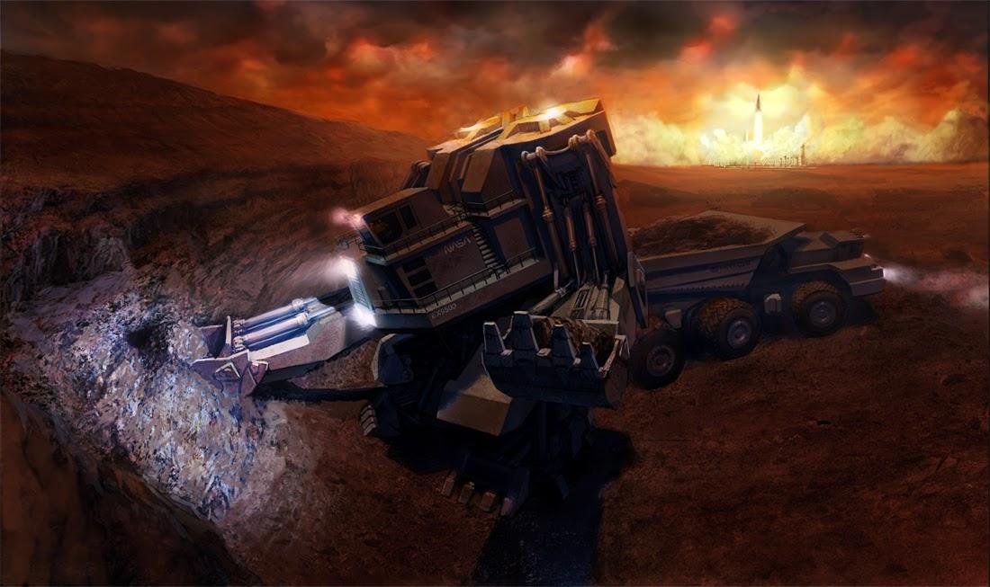 Mars excavator by Kemp Remillard