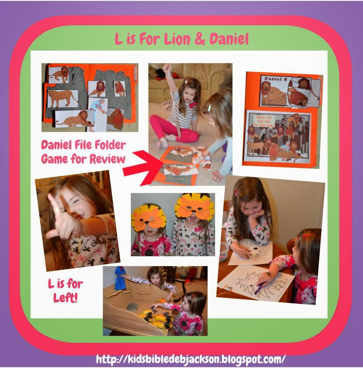 Bible Fun For Kids Preschool Alphabet L Is For Daniel Amp The Lions
