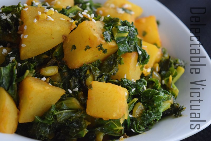 Kale and Potatoes Spiced with Turmeric and Berbere