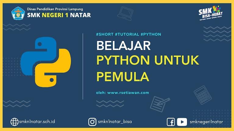 apa itu Python? kenapa belajar python?