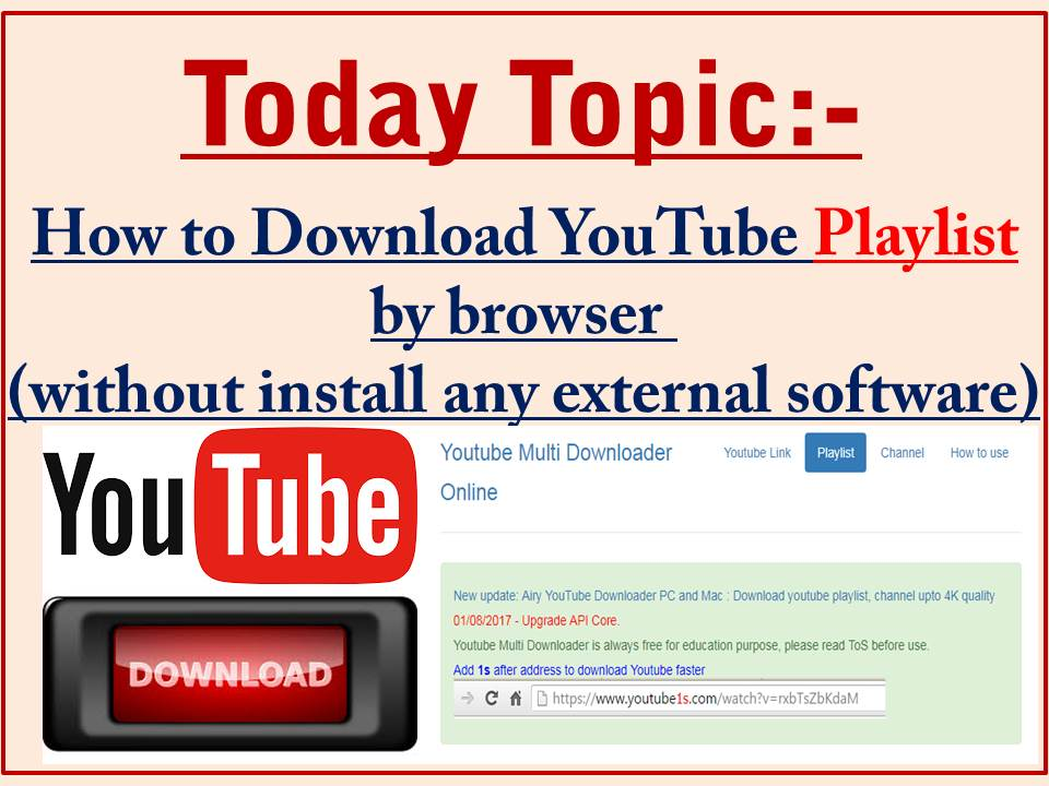 how to download youtube songs without software