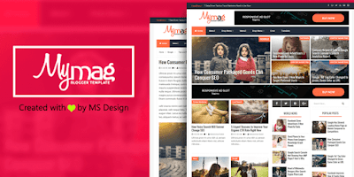 My Mag SEO Optimized Responsive Blogger Template
