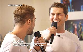 David Bisbal y Manu Tenorio Lucía OT reencuentro