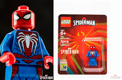 San Diego Comic-Con 2019 Exclusive PS4 Video Game Spider-Man Marvel LEGO Mini Figure