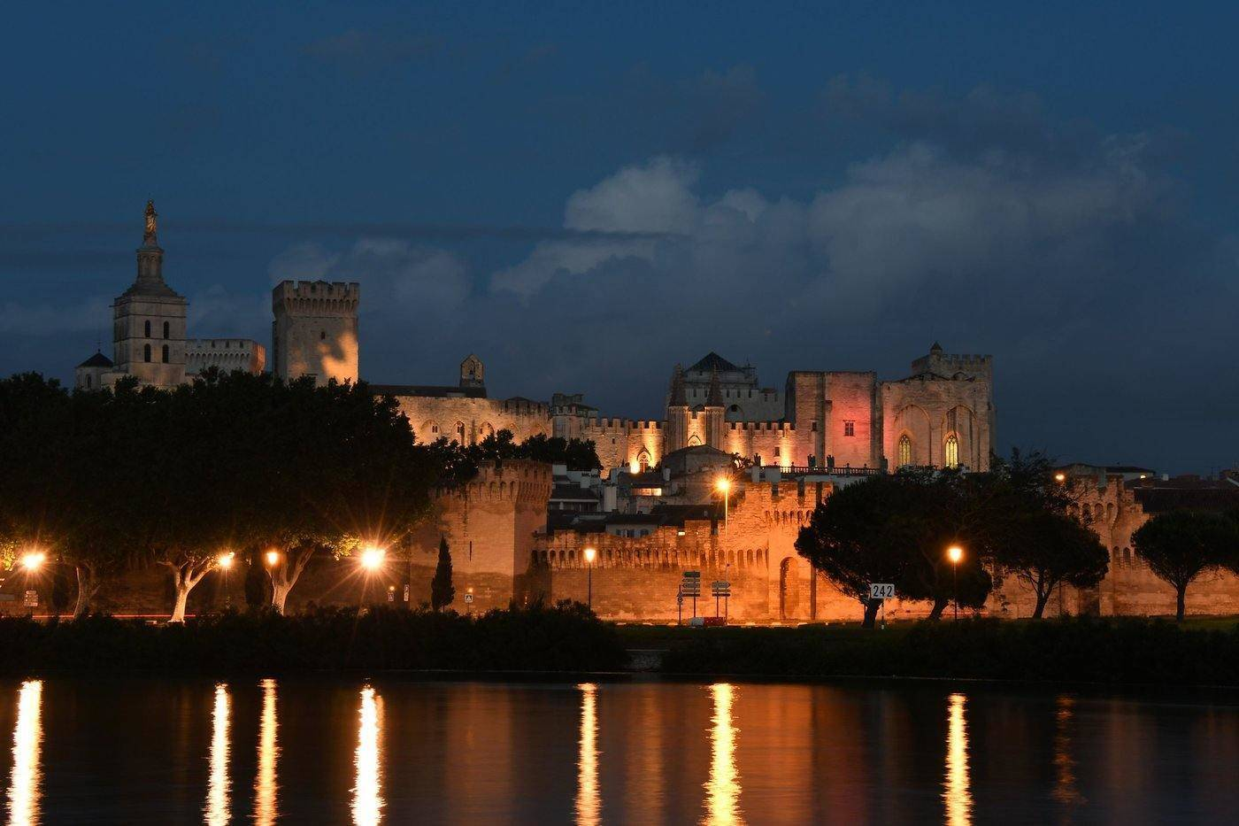 avignon skyline at night - best things to do in provence, france