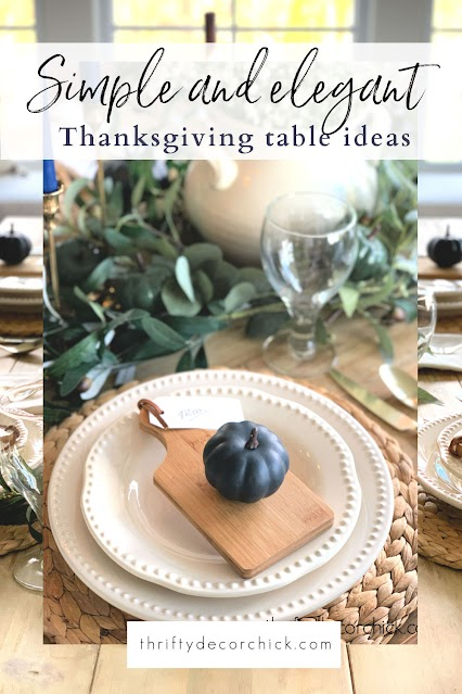 neutral and colorful thanksgiving table ideas