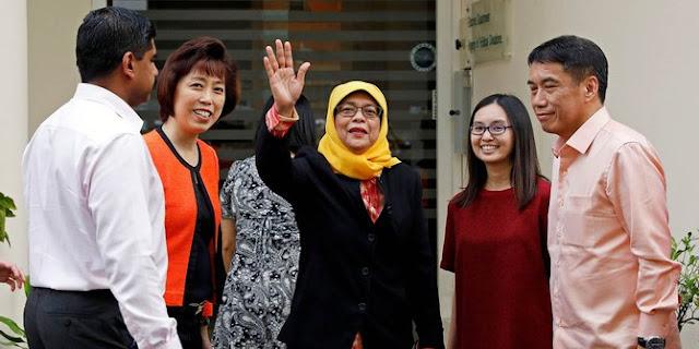Perempuan Muslim dari Etnis Minoritas Resmi Jadi Presiden Singapura