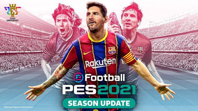 التحديث الرسمى للعبة PES 2021