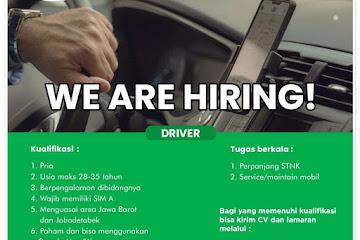 Lowongan Kerja Driver Klinik Aqma
