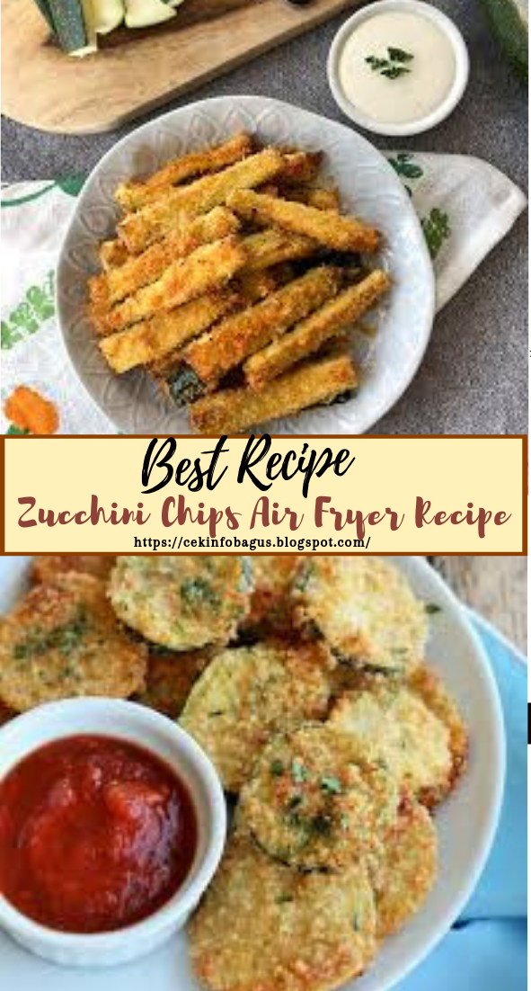 Zucchini Chips Air Fryer Recipe #vegan #vegetarian #soup #breakfast #lunch